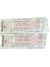 1970 THE DOORS CHICAGO CONCERT TICKETS - 1st SHOW- Two Intact Tickets