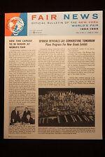 Worlds Fair New York 1964  News Bulletin Vol 2 No. 6 June 1963 EXCELLENT