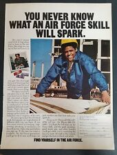 1973 Air Force skill vintage military ad