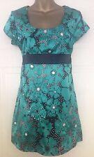 M & Co M&Co Jade Green Black Satin Short Sleeve Satin Short Mini Dress 10 S 36