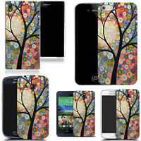 For Various Mobile Phones Design Hard Back Case Cover - floral tree