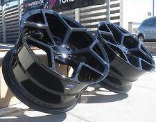"20"" 20x10/20x11 5x120 MRR M228 Wheels For Chevy Camaro SS RS Z28 Black Rims Set"