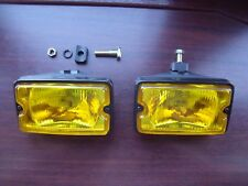 Peugeot 205 GTI driving lights lamps NEW YELLOW GLASS single bolt version OE