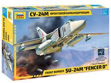 SUKHOI Su-24 M FENCER D - SWING WING BOMBER (SOVIET AF MKGS)#7267 1/72 ZVEZDA