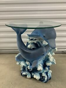 Playful Dolphin Accent Table