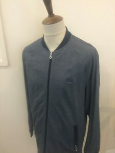 HUGO BOSS ZIP UP SWEAT SHIRT TOP SIZE XL GREY