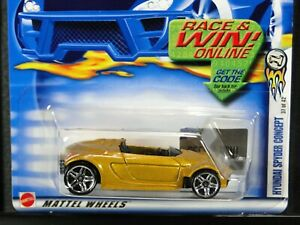 HYUNDAI SPYDER CONCEPT, Hot Wheels 2002 FIRST EDITIONS 37/42, Gold, PR5 wheels