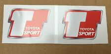 Toyota Sport Badge Emblem Racing Tuning Stickers/Decals x 2