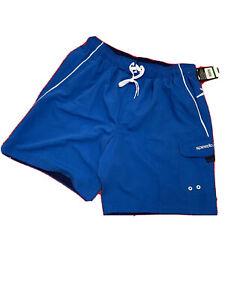 Speedo Summer MENS Beach Size L Classic Blue/White Swim Shorts Trunks NWT $42