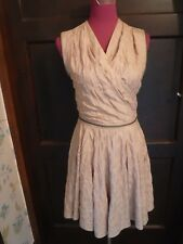 Amazing All Saints Quilted Prom Dress Light Gold Size 10 Excellent Condition
