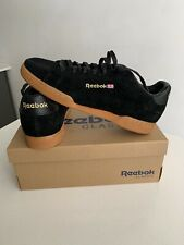 Mens Reebok Black NPC II Suede Trainers Retro Lace Up Size 10 New Boxed Tennis