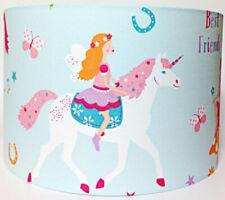 Magical Unicorn Large Fabric Light Shade - Pink