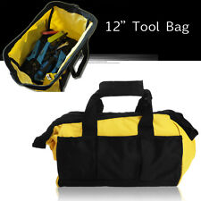 12'' Heavy Duty Tool Bag Pocket Pouch Contractor Toolbag Handheld Storage Case