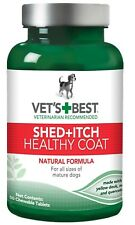 VET'S BEST HEALTHY COAT SHED + ITCH for DOGS - 50 Chewable Tablets Supplement