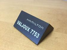 Placa Exposant Plaque HAMILTON - Valjoux 7753 - Painted Wood - For Colletors