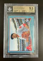 2014 MOOKIE BETTS TOPPS UPDATE WALMART BLUE - BGS 9.5 ROOKIE CARD DODGERS