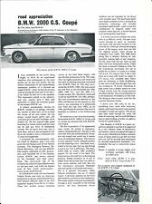 Auto Brochure - BMW - 2000 C.S. Coupe - Test Report - 1968 (A1130)