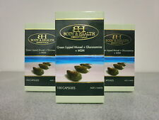 Glucosamine + MSM + Green Lipped Mussel 100 Capsules (3 Pack) - Joint Health