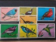 PARAGUAY 1973 birds  7 stamp set MNH