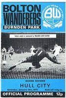 Bolton Wanderers v Hull City 1977/8