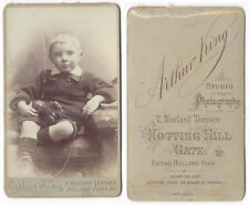 CDV Victorian Boy with Toy Horse Carte de Visite by King of Holland Park