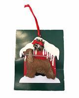 Cocker Spaniel Doghouse Christmas Tree Ornament Brown Dog Kurt S Adler New Gift