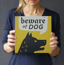"Beware of Guard Dog Sign, 8"" x 8"", for Interior/Window"