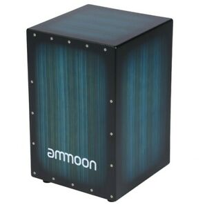 Cajon Hand Drum Percussion Box with Adjustable Snares Blue