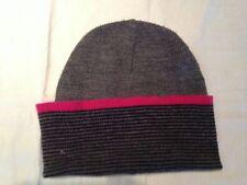 Cappello Berretto per bambina - colore grigio nero rosa - one size - usato