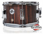 Popcorn Snare Drum by Griffin - 10x6 Black Hickory Poplar Wood Shell Firecracker