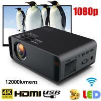 3D Mini LED Projector WIFI Bluetooth 12000 Lumen 1080P Home Theater Cinema HDMI