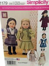 New Pattern 1179 Doll Clothes Vintage Inspired fit 18 inch American Girl