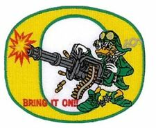 """Oregon Ducks Vintage Logo Embroidered Iron On Patch (Old Stock) 4"""" x 3"""" AWESOME"""