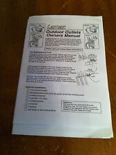 vintage Lamar Outdoor Outlets owners manual/Product Registration/diagram sheet