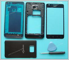 Black Housing Cover Glass+Lens Screen For Samsung Galaxy S II SGH-I777