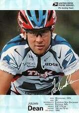 """ Julian Dean "" Pro Cycling Team, USPS, Bicycling, Cyclist --- 5"" x 7"" Postcard"