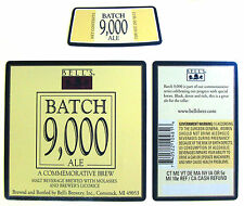 Bell's Brewery BATCH 9000 ALE - A COMMEMORATIVE BREW beer label MI 12oz