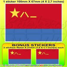 "CHINA Chinese AirForce PLAAF Flag 100mm (4"") Vinyl Sticker, Decal x1+2 BONUS"