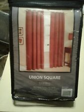 Union Square Grommet Curtain Panel 54in x 84in CHOCOLATE Color