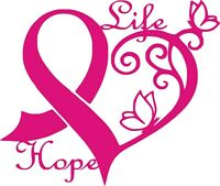 Breast Cancer Awareness Sticker | Pink Car Window Vinyl SUV Decal 5x4