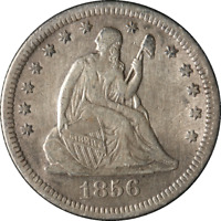 1856-O Seated Liberty Quarter Great Deals The Executive Coin Company - BBQE2218