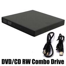 External USB 2.0 DVD RW CD Writer Drive Burner Reader Player For Laptop PC NEW