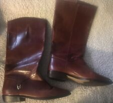 ETIENNE AIGNER Vtg 80's brown leather riding boots 7 1/2N