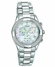 Citizen Eco Drive FB1220-53D Chronograph MOP Dial Stainless Steel Women's Watch