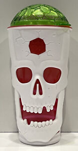 Rare - 2017 Cool Gear Skull tumbler Insulated Travel Drink cup - HALLOWEEN