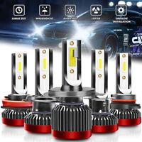 2X Mini Bombillas LED H7 H1 H4 H8/H9/H11 9005 9006 9012 Faros 6000K 55W 10000LM