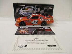 KYLE LARSON  .. signed 2014 .. ENEOS .. CHARLOTTE WIN ..  1/24 CAR ..  ACTION