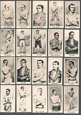 1938 F.C. Cartledge Famous Prize Fighters Tobacco Cards Near Set of 51/52