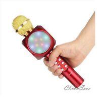 Mini Handheld Bluetooth Wireless Karaoke Microphone Family KTV WS-1816 Red