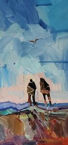 JOSE TRUJILLO Oil Painting IMPRESSIONISM CONTEMPORARY People Figures Landscape